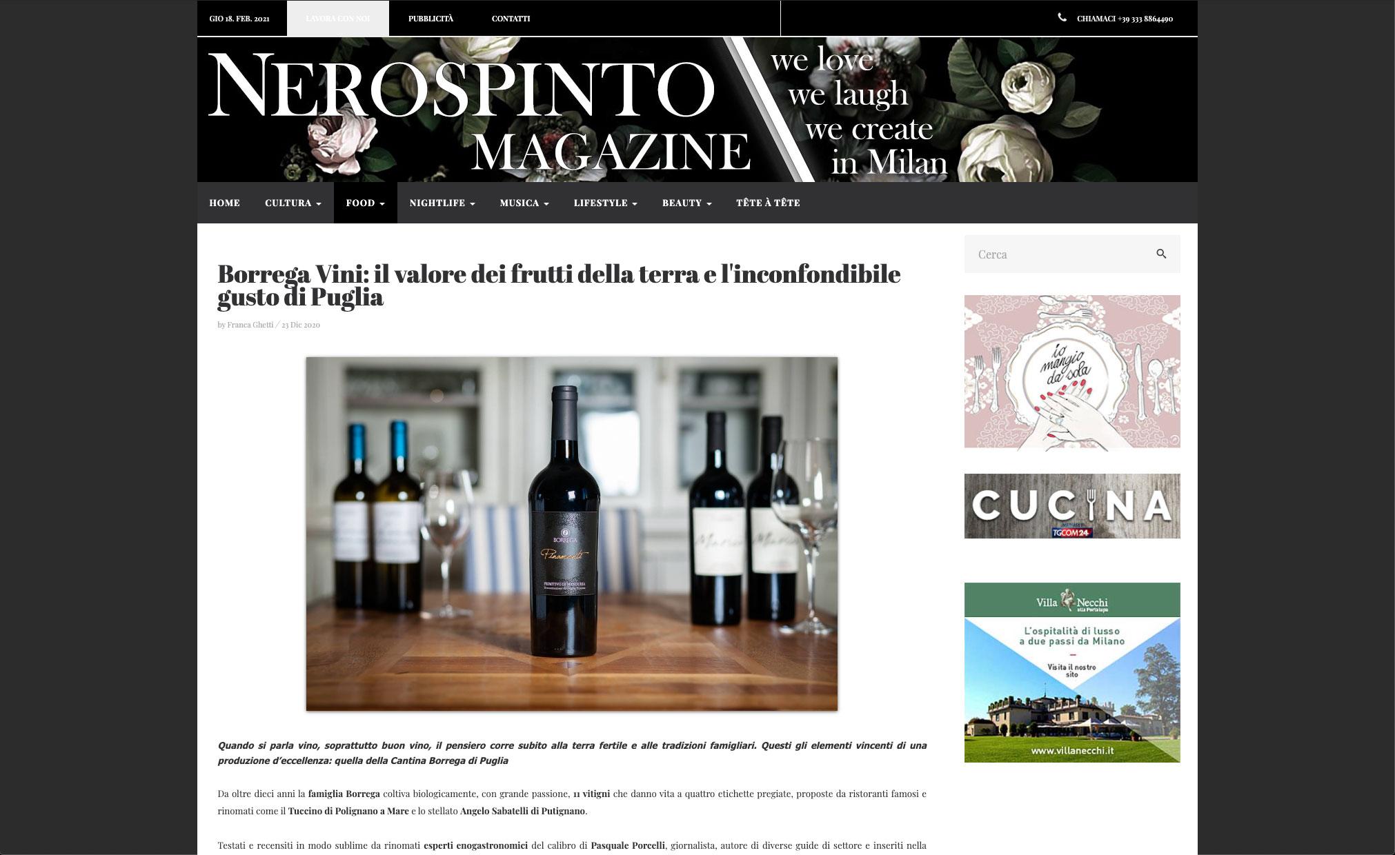 Borrega Vini: il valore dei frutti della terra e l'inconfondibile gusto di Puglia