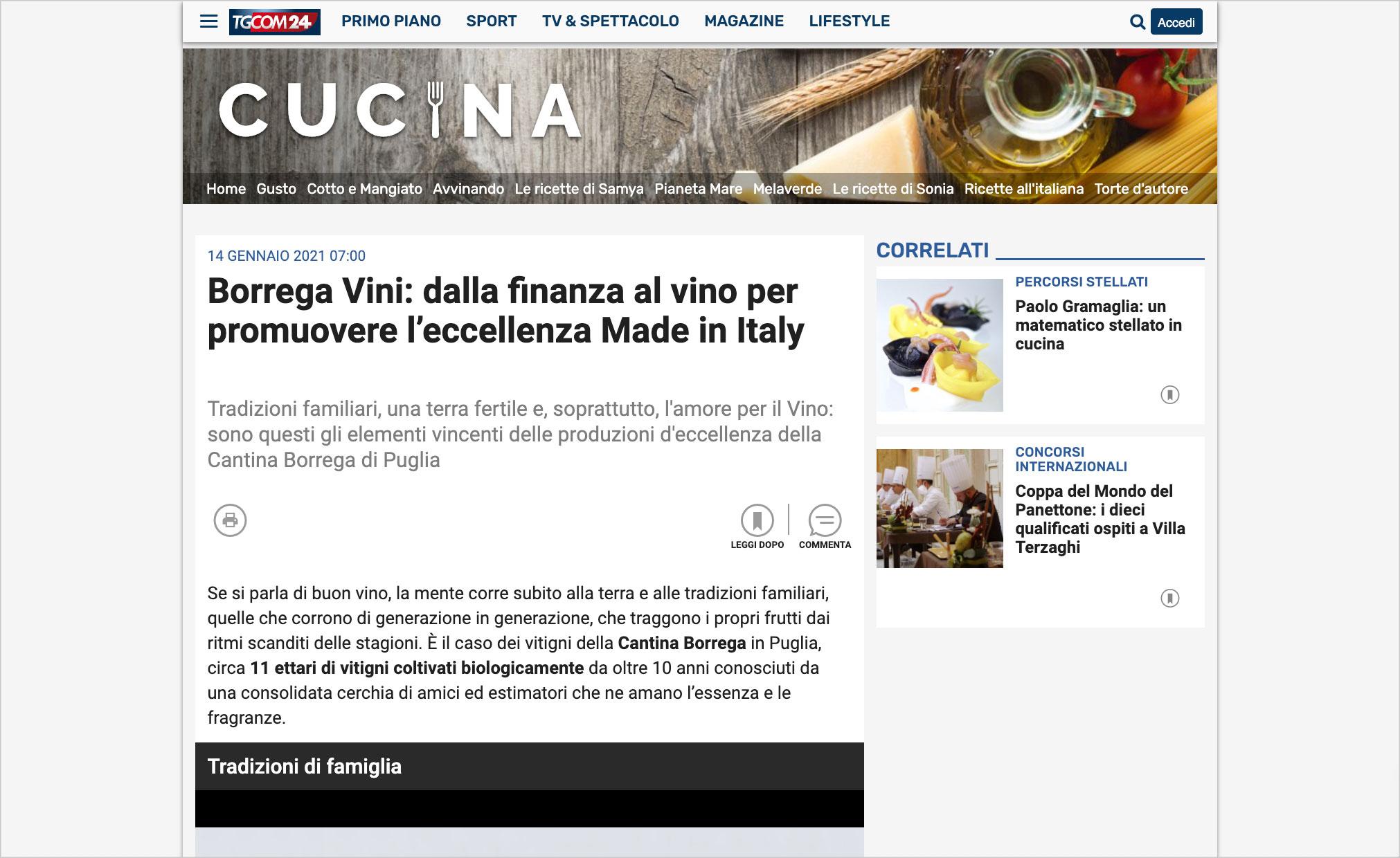 Borrega Vini: dalla finanza al vino per promuovere l'eccellenza Made in Italy