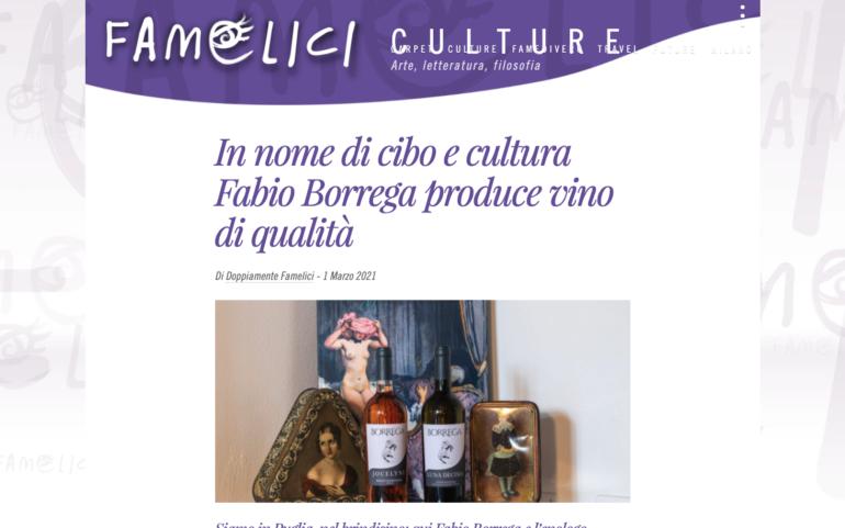In nome di cibo e cultura Fabio Borrega produce vino di qualità