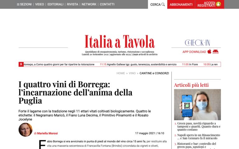 I quattro vini di Borrega: l'incarnazione dell'anima della Puglia